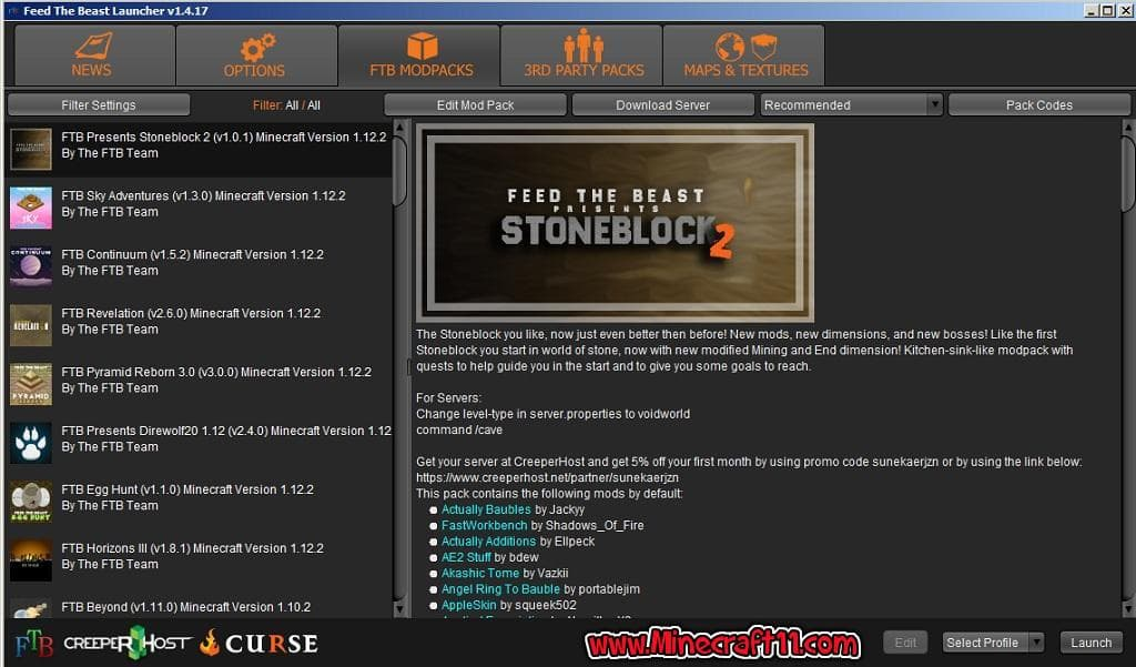 FTB launcher download 2019 (without curse and twitch
