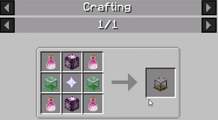Tiny Mob Farm crafting 2