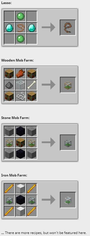Tiny mod farm Recipes partial