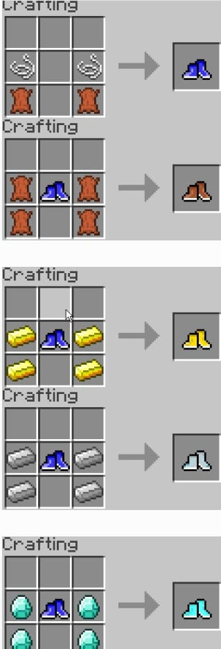Running Shoes mod crafting